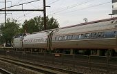 stock photo of amtrak  - trains view from station at new brunswick nj  - JPG