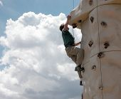 image of climbing wall  - Climbing a 5 - JPG