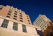 image of asheville  - Looking up at architecture in downtown Asheville North Carolina - JPG