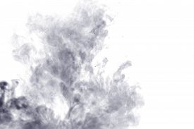 picture of steam  - Abstract steam on a white background. Texture. Design element. Abstract art. The steam from the iron. Macro shooting. ** Note: Visible grain at 100%, best at smaller sizes - JPG