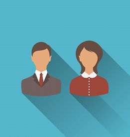 picture of avatar  - Illustration male and female user avatars - JPG