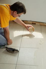 image of grout  - Fill the tile joints - JPG
