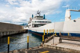 picture of messina  - Ferryboat in messina from Italy to Sicily Strait of Sicily - JPG