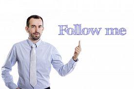 stock photo of follow-up  - Follow me  - JPG