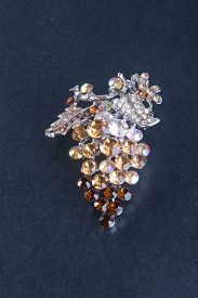 stock photo of brooch  - crystal brooch or fashion brooch on the background - JPG