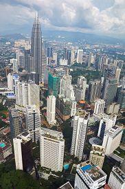 image of petronas towers  - KUALA LUMPUR MALAYSIA  - JPG