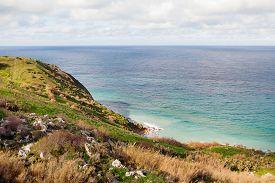 foto of gozo  - Seacoast on small island Gozo Malta - JPG