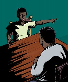 foto of disrespect  - Cartoon of disrespectful male child yelling at parent - JPG