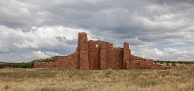 image of pueblo  - Historic Ruins of Pueblo Missions near Mountainair - JPG