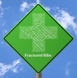 picture of fracture  - Fractured Ribs Meaning Ill Health And Ailment - JPG