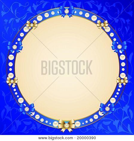 Un beau fond avec ornements de dentelles et cadre décoratif