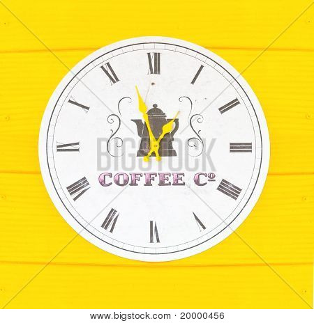 Horloge Style café