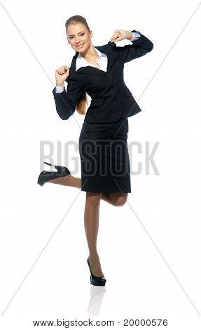 Gestionnaire de femme en costume