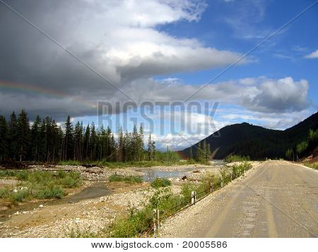 road in Sayany mountains