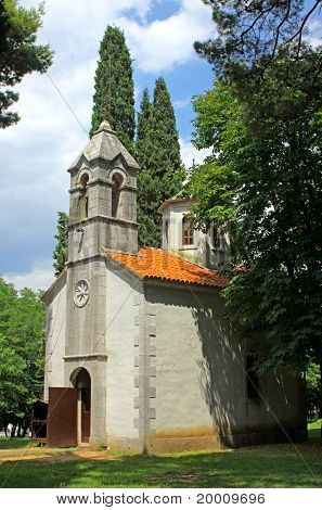 Small Church, in Podgorica, Montenegro