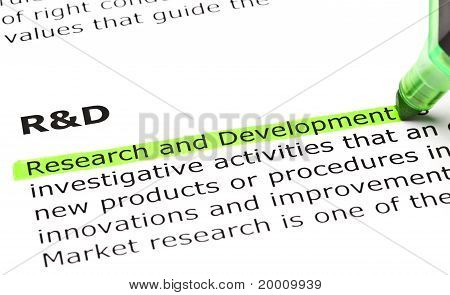 Research and Development Definition