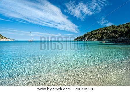Fetovaia Beach, Elba Island. Italy.
