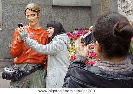 ein Foto-Mädchen