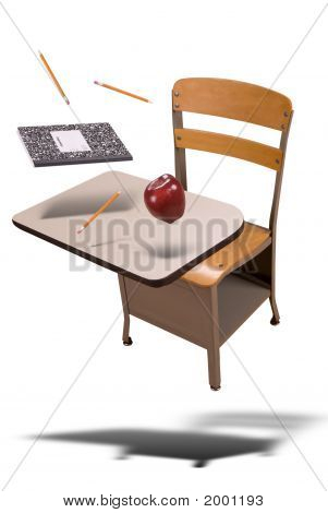School Desk Floating