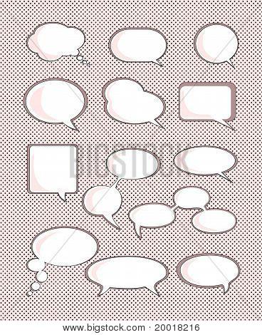Set of speech bubble