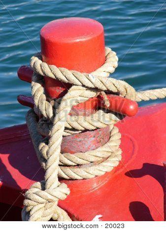 Rope On Bollard