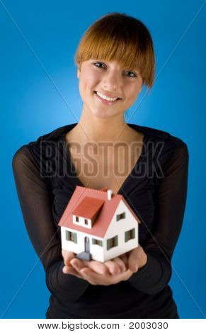 Woman With Little House