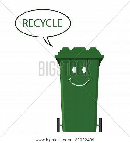 Happy recycle bin