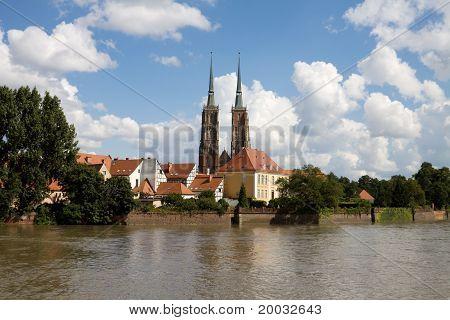 Poland, Wroclaw Cityscape