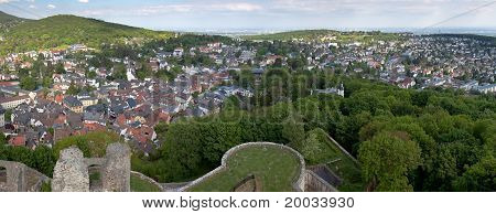 Koenigstein Panorama And Castle