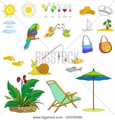 Objetos representan verano