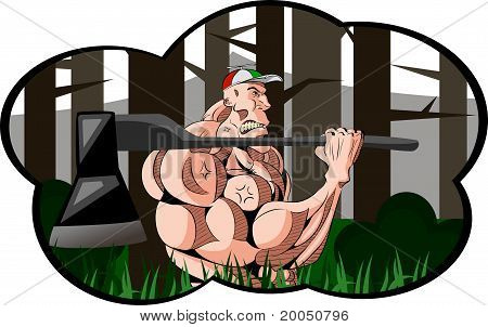 Muscle Woodcutter