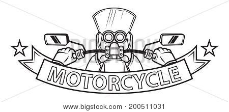 motorcycle ribbon logo
