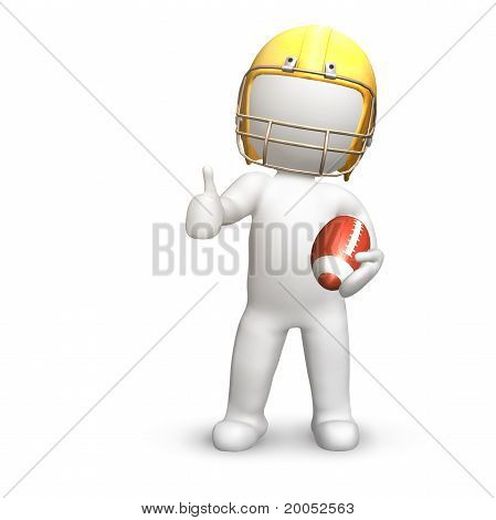 American Football Player, Thumbs Up