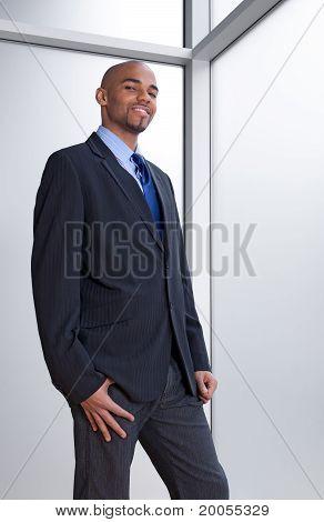 Business Man Beside The Window