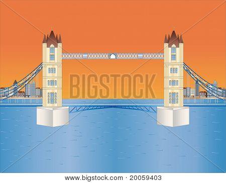Tower Bridge ao entardecer