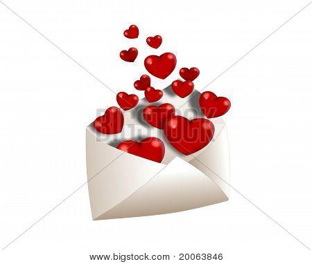 Umschlag voller Liebe