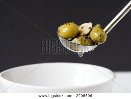 Olives With Garlic And Herbs