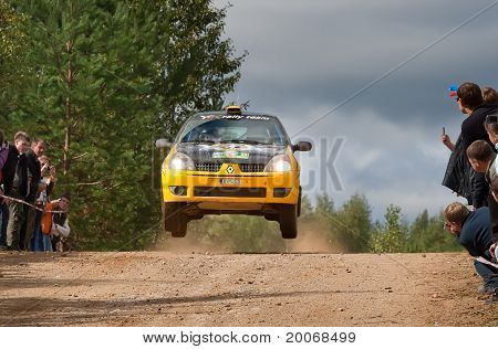Rostov, Russia - September 05: Uriy Volkov Drives A Subaru Impreza  Car During Rostov Velikiy Russia