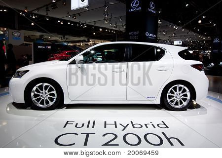 Moscow, Russia - August 25: White  Car Lexus Ct 200 H At Moscow International Exhibition Interauto O
