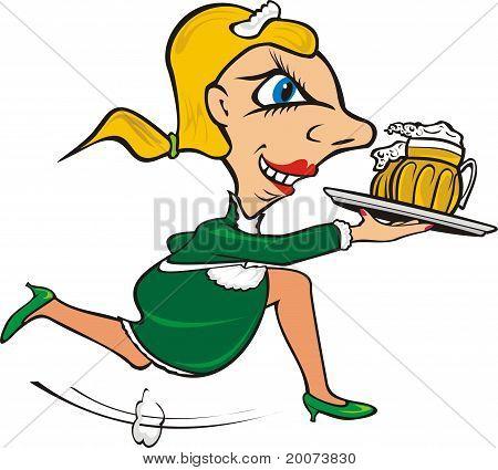 dienen van het bier
