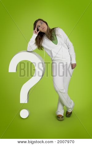 Woman Contemplating Questions