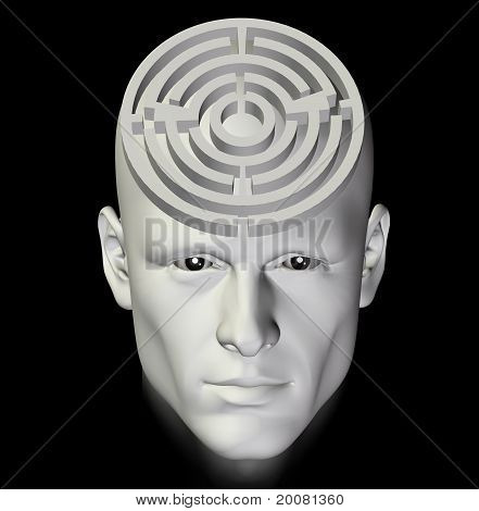 Maze Of Thought Abstract 3D Illustration
