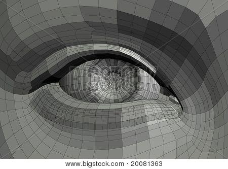 Mechanical Eye Illustration