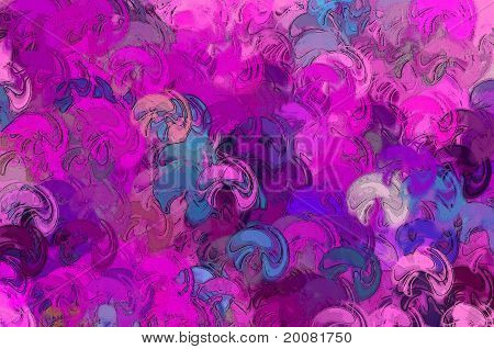 Abstract Delirium Mushrooms