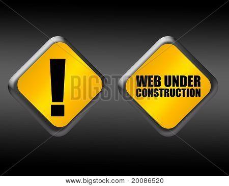 Web Under Construction Sign
