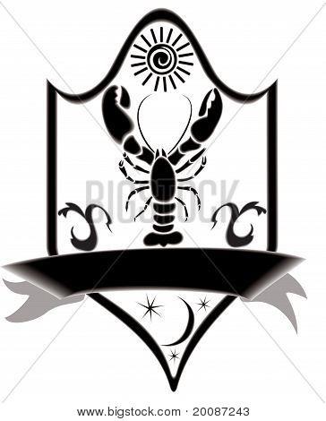 Icon Title Zodiac Crawfish.