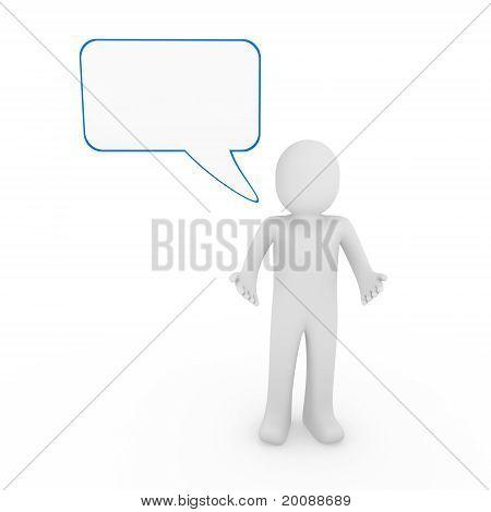 3D Human Man Speak