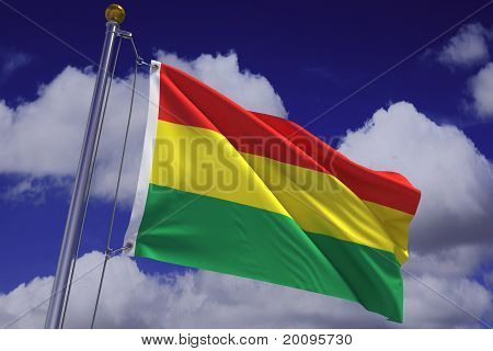 Waving Bolivian Flag
