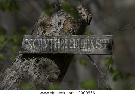 Deep Woods Signpost