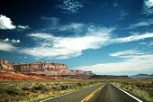 stock photo of grand canyon  - On the road to Grand Canyon national park